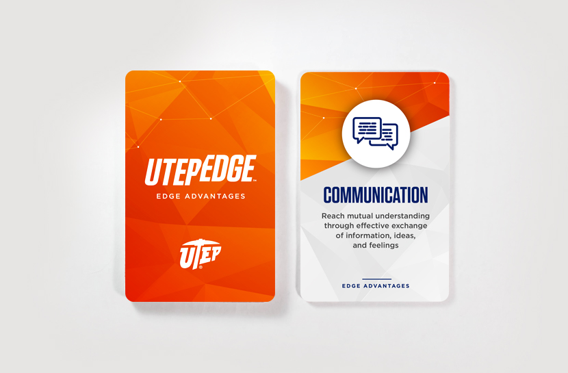 UTEP Edge Advantages: Front and Back Design