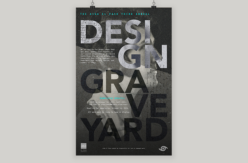 Call for Entries Poster for AIGA Chapter 69's Design Graveyard
